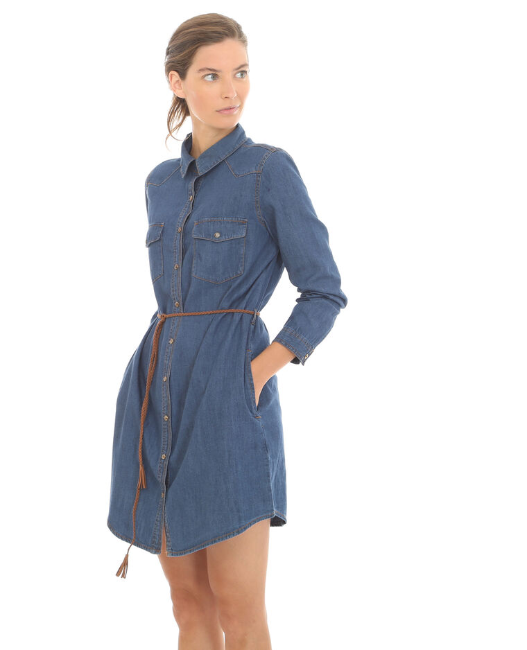 7079150452 Robe chemise denim bleu foncé - 780342682A06