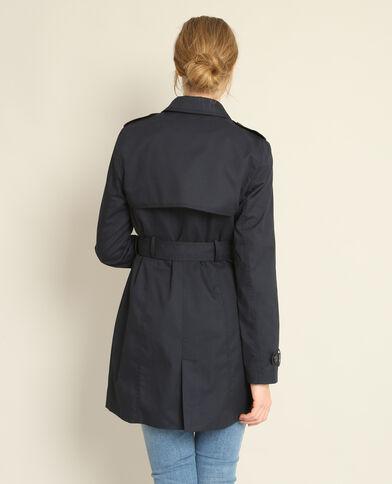 Trench-coat classique bleu marine