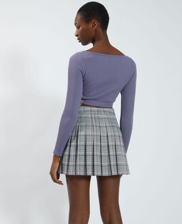 T-shirt cropped sans coutures violet - Pimkie