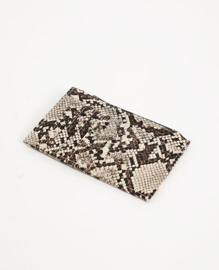 Porte-cartes beige ficelle