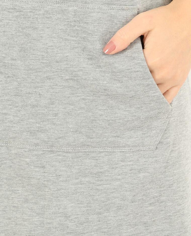 Robe sweat gris chiné