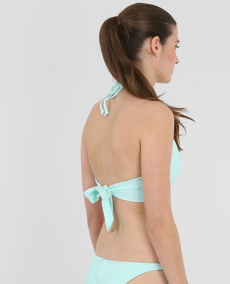 Haut de maillot de bain vert pâle vert d'eau