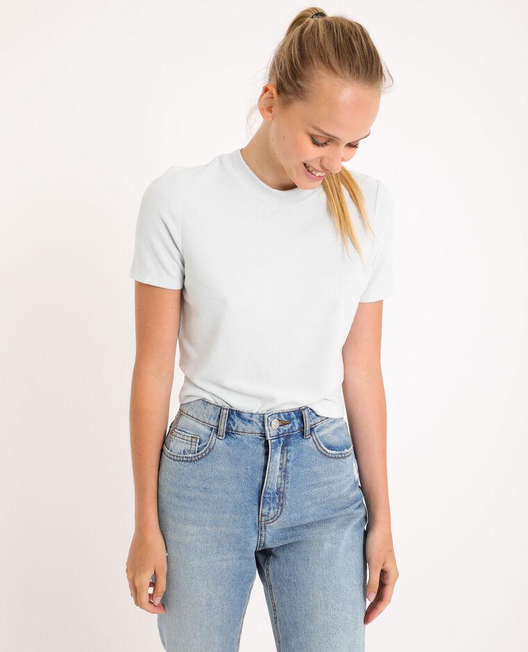T-shirt doux bleu ciel - Pimkie
