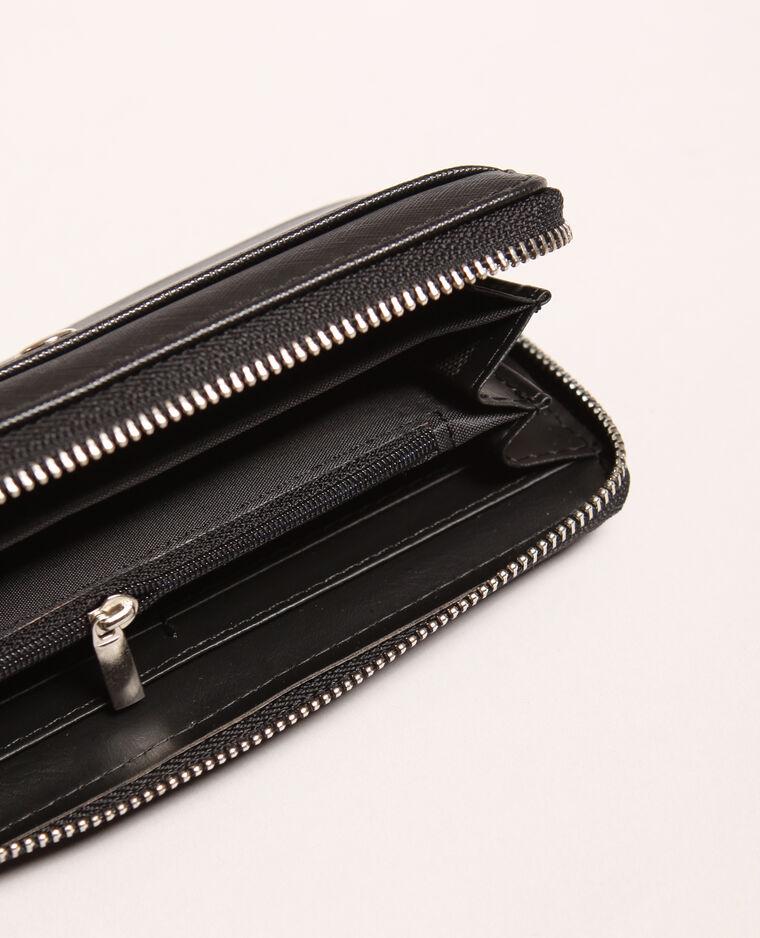 Portefeuille en simili cuir noir
