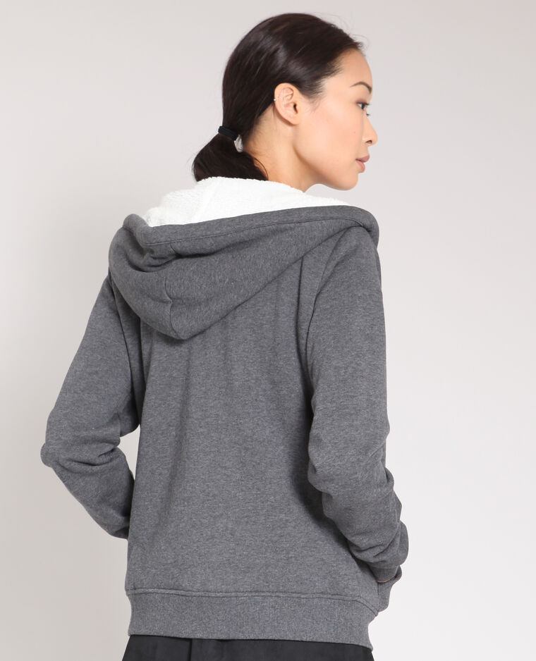 Sweat zippé gris