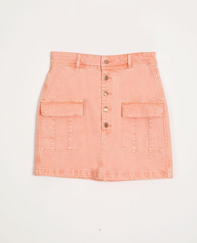 Jupe en jean orange - Pimkie
