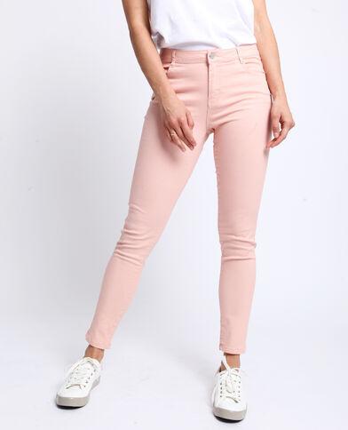 Pantalon push up mid waist rose