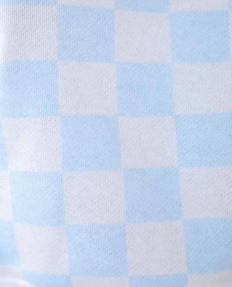 Sweat molleton à carreaux blanc cassé - Pimkie