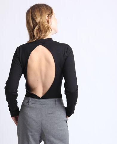 Body à dos ouvert noir