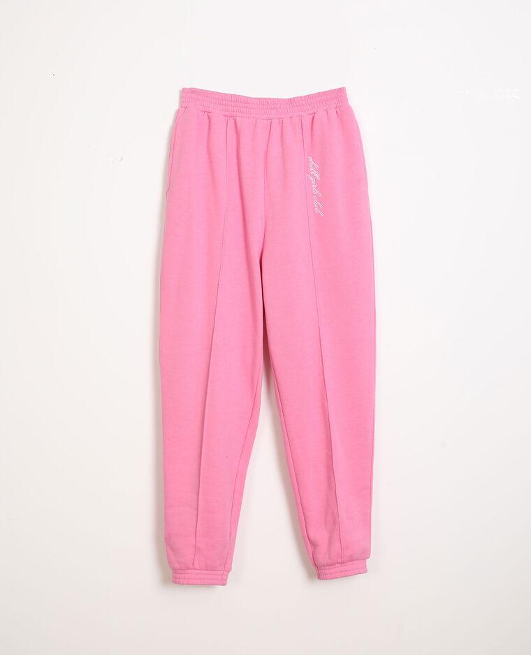 Pantalon molleton rose