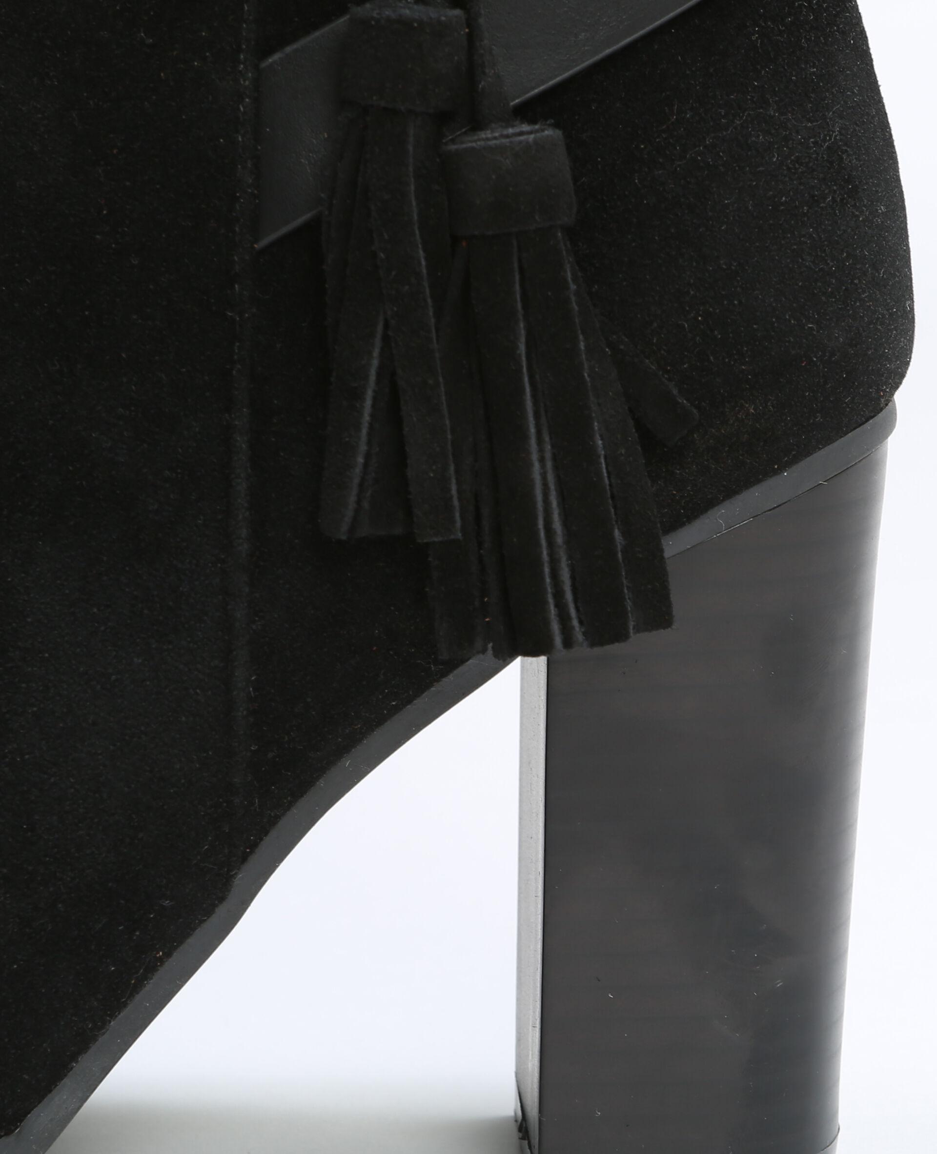 Boots talon carré noir
