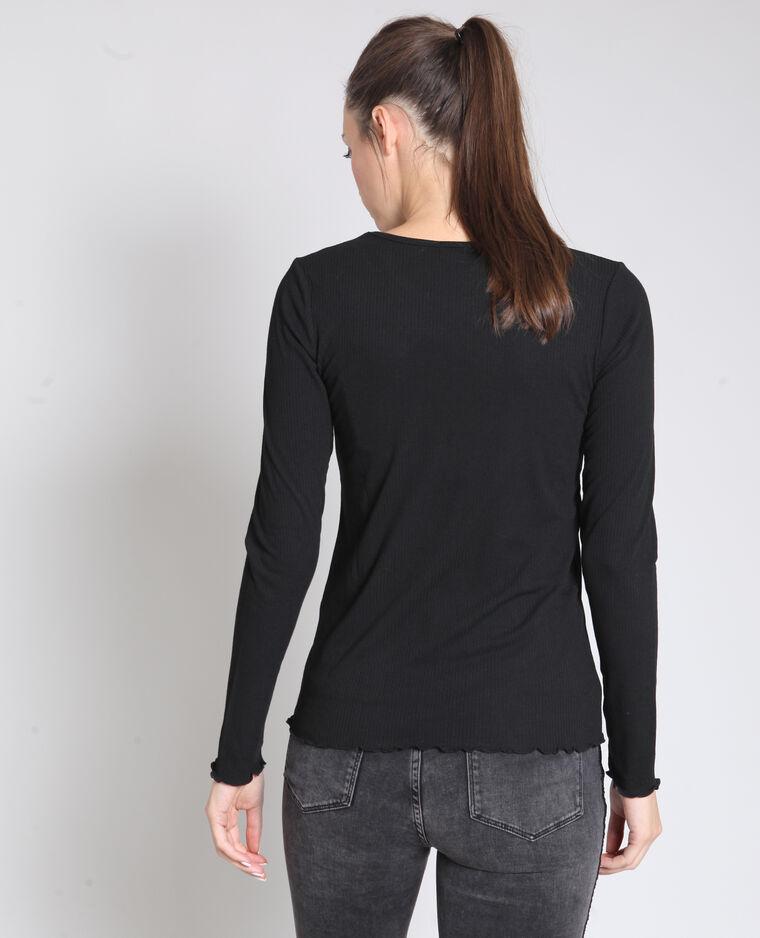 T-shirt texturé noir