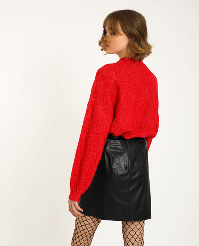 Pull losanges rouge
