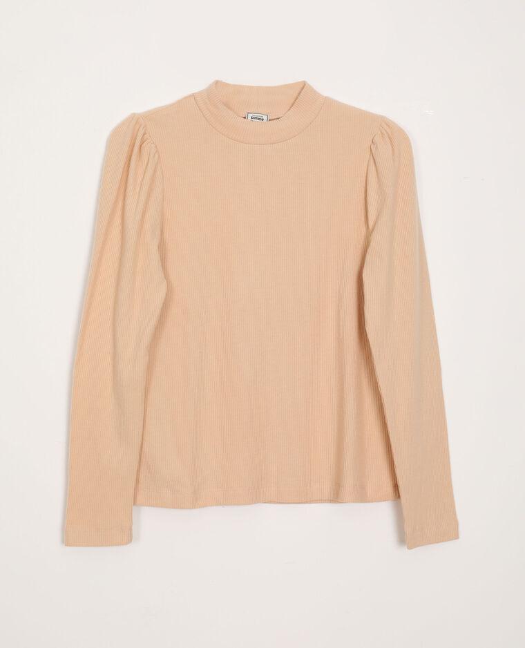 T-shirt à manches bouffantes beige - Pimkie