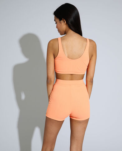 Haut de maillot brassière côtelé orange - Pimkie