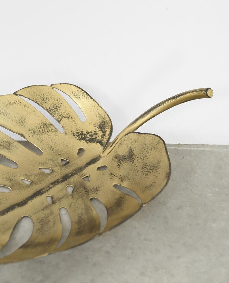Vide poche feuille doré
