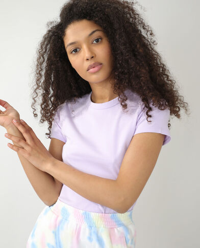 T-shirt basique violet