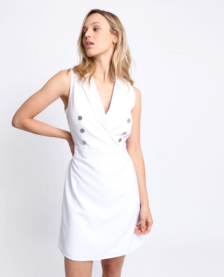 Robe à boutons blanc