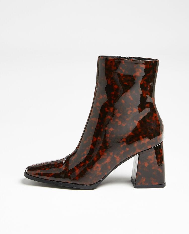 Boots bouts carrés marron
