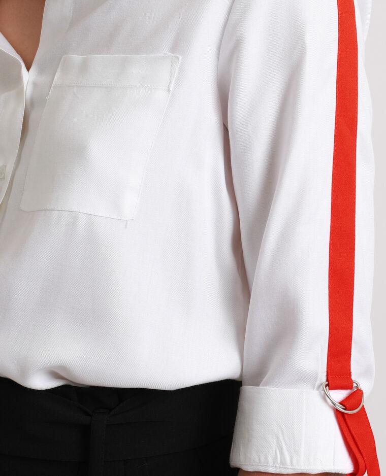 Chemise avec bande contrastante blanc