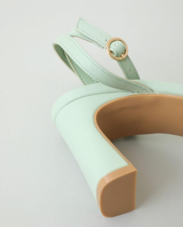 Sandales tressées à talons vert - Pimkie