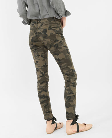 Skinny 7/8 camouflage kaki
