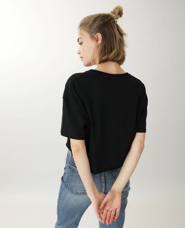 Cropped T-shirt noir - Pimkie