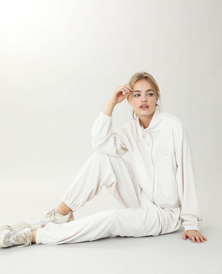 Veste en velours blanc cassé - Pimkie