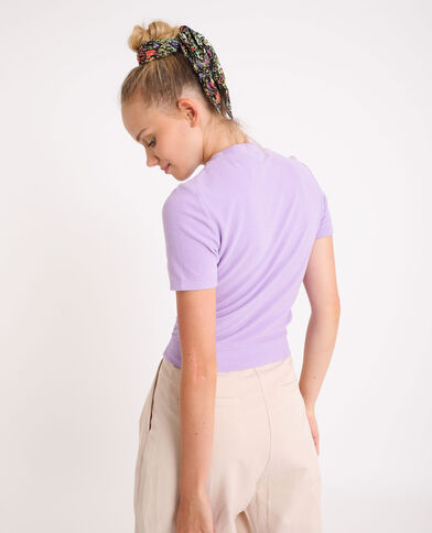 T-shirt doux lilas
