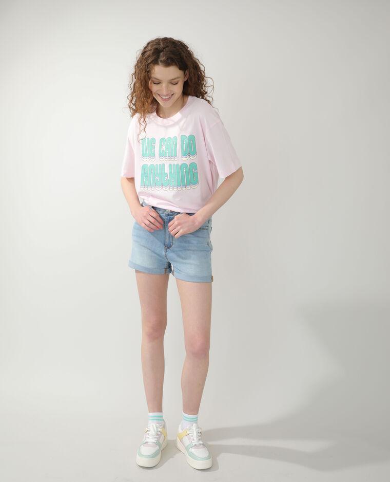 Short en jean bleu délavé - Pimkie