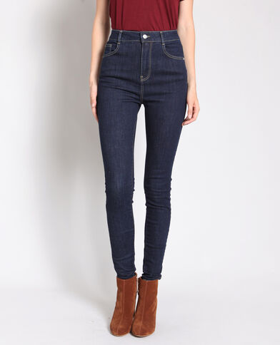 Jean skinny taille haute bleu foncé 22a56cee4dad