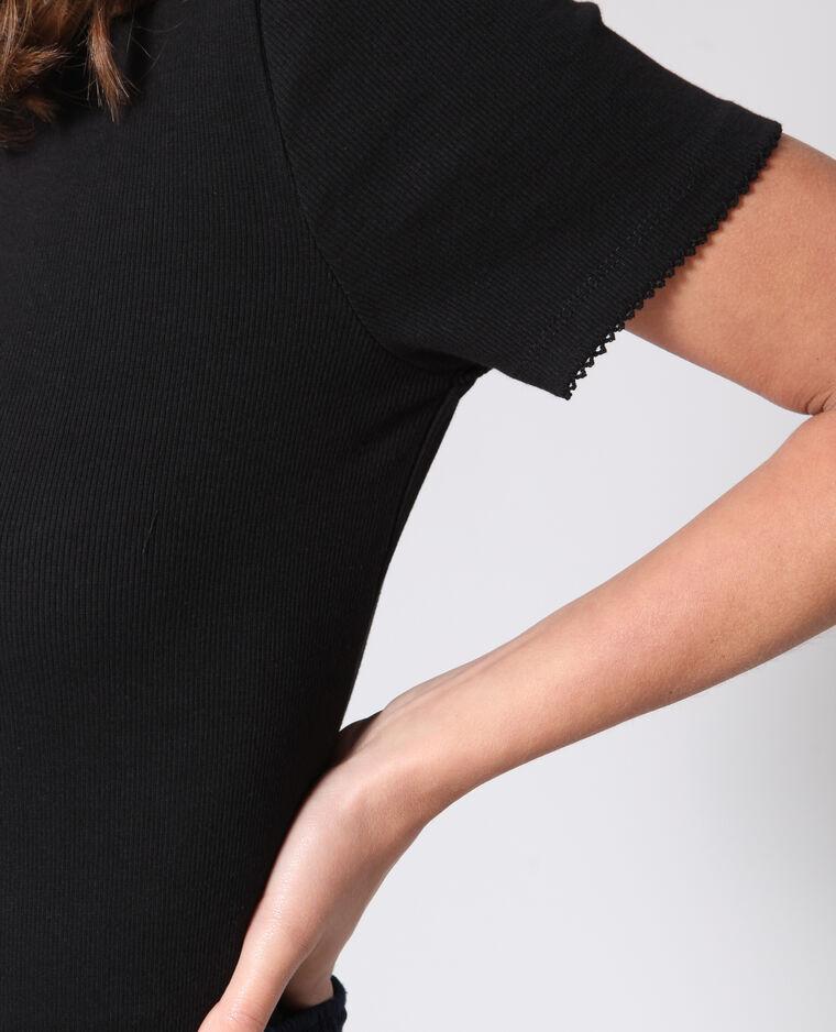 T-shirt à col montant noir