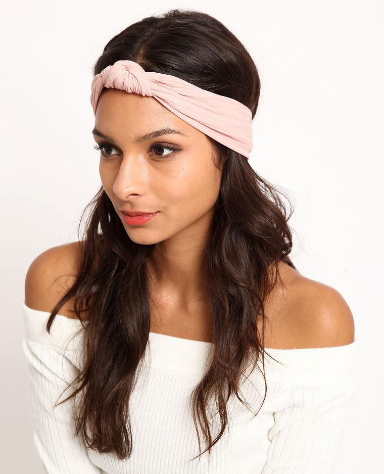 Headband à nœud rose poudré