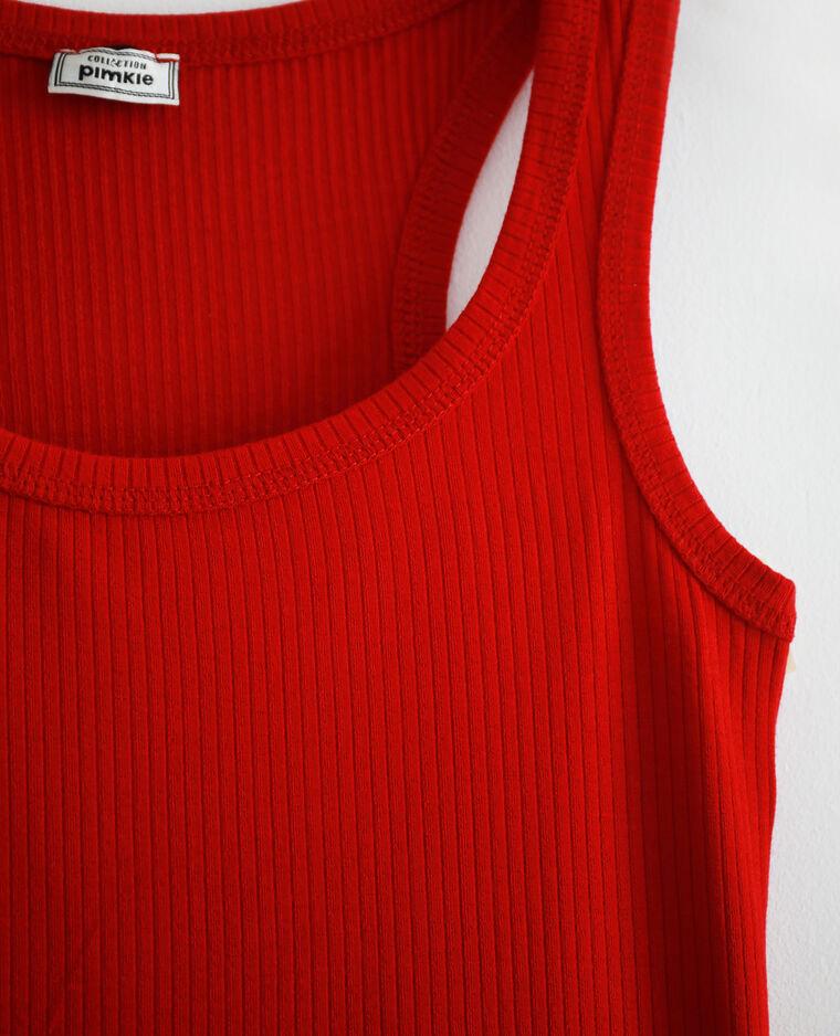 Débardeur côtelé rouge - Pimkie
