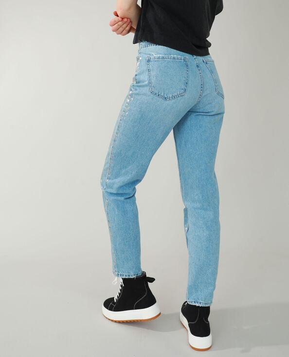 Jean straight fantaisie gris