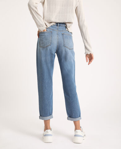 Jean mom high waist bleu jean