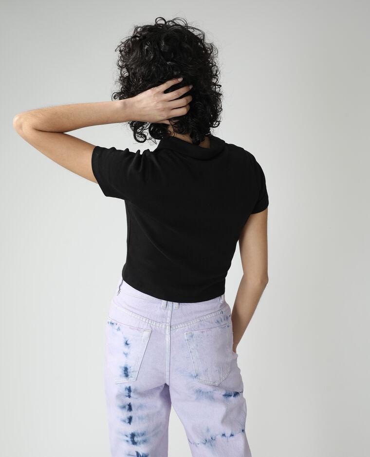 Polo zippé noir - Pimkie
