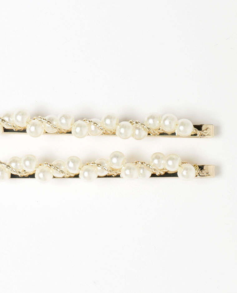 Lot de 2 pinces à perles doré - Pimkie