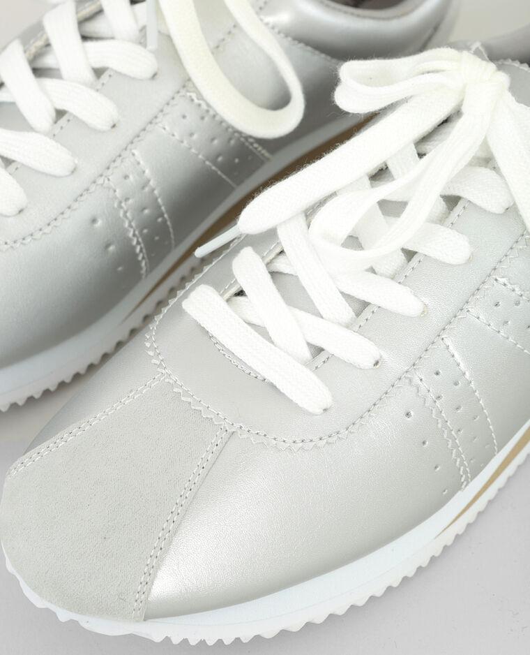 Baskets mode métallisées gris
