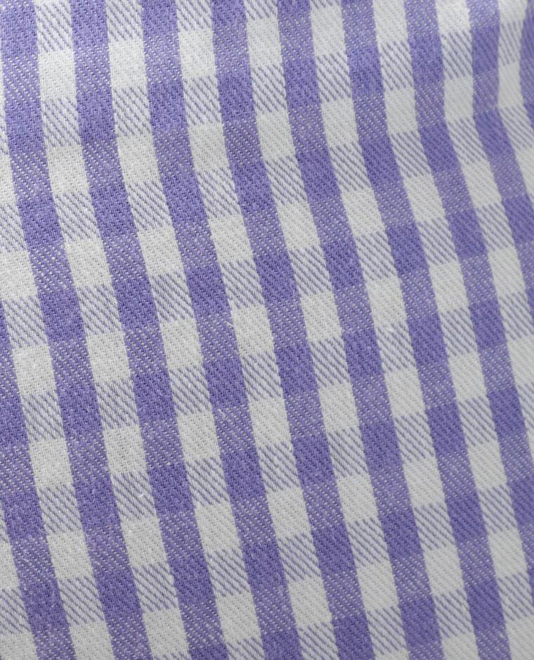 Short city Vichy violet - Pimkie