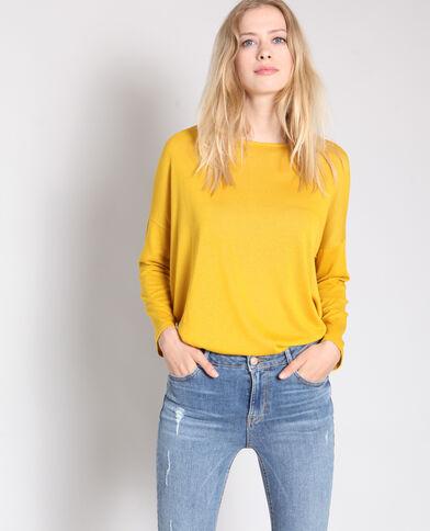 T-shirt à manches longues jaune 3d3af6bd926