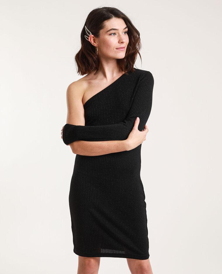 Robe asymétrique paillettée noir