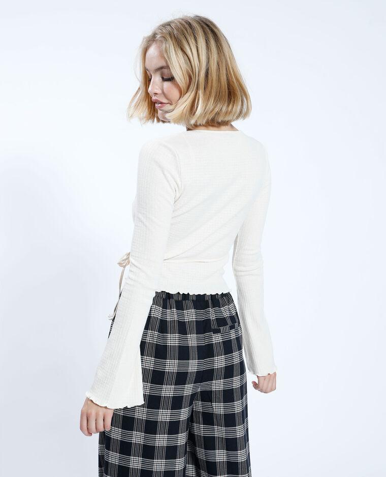 T-shirt croisé beige ficelle - Pimkie