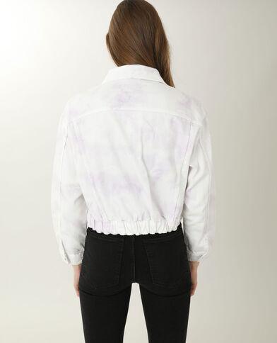 Veste en jean tie and dye blanc - Pimkie