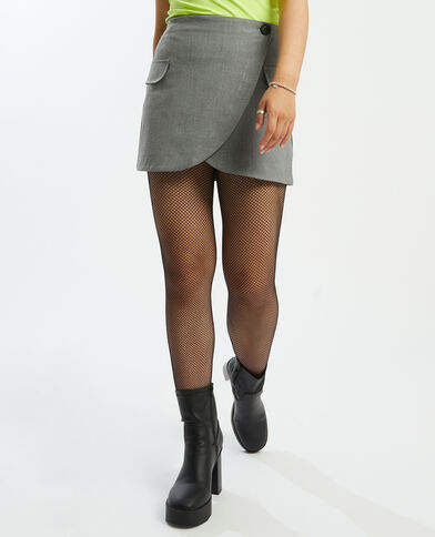 Mini-jupe portefeuille gris argenté - Pimkie