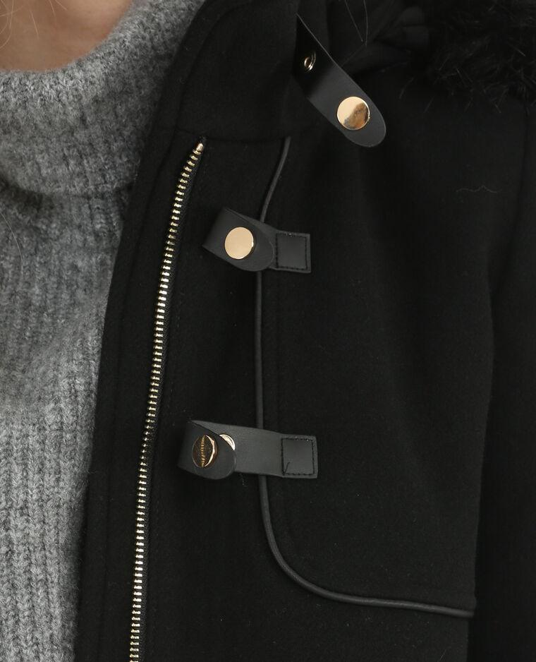 Caban drap de laine noir