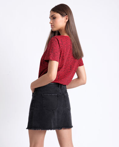 T-shirt à imprimé rouge