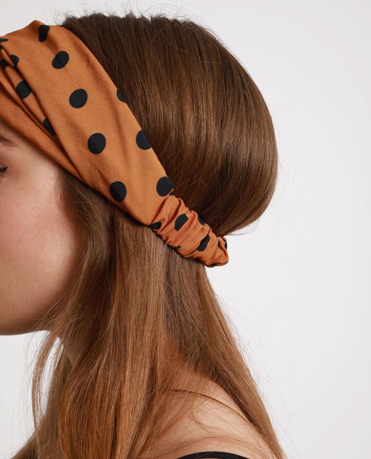 Headband à pois rouille