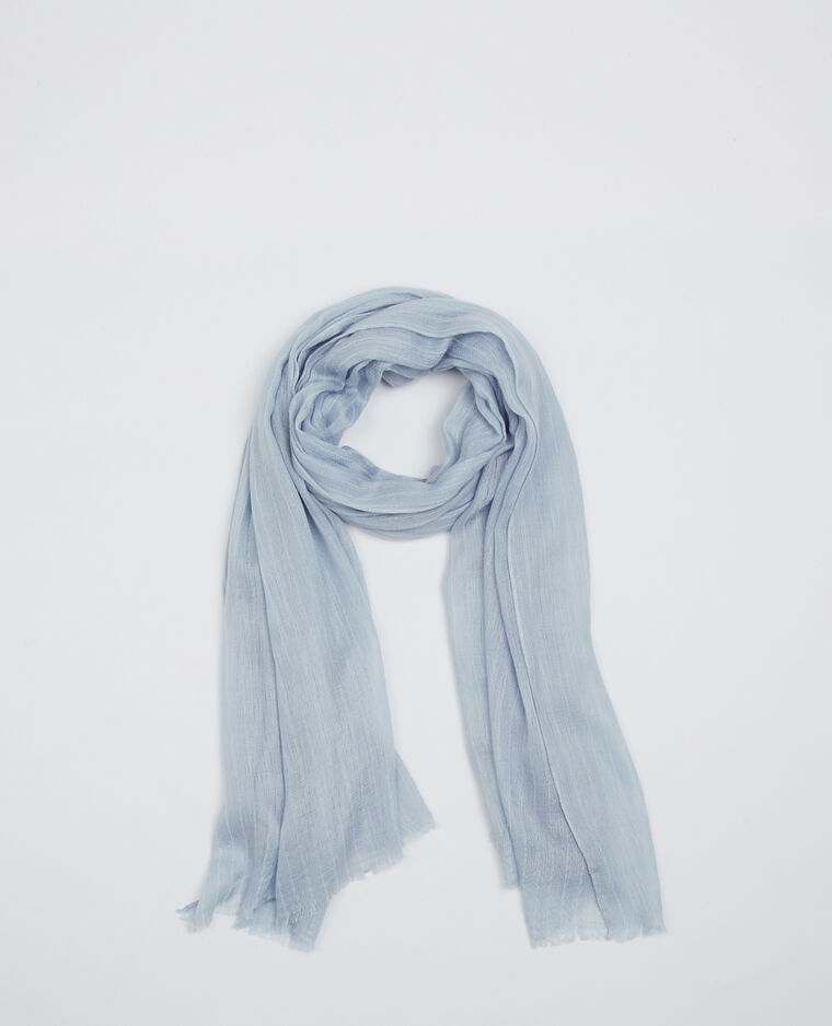 Echarpe fine à rayures bleu ciel - 916554B34C09   Pimkie 13a7c653e38
