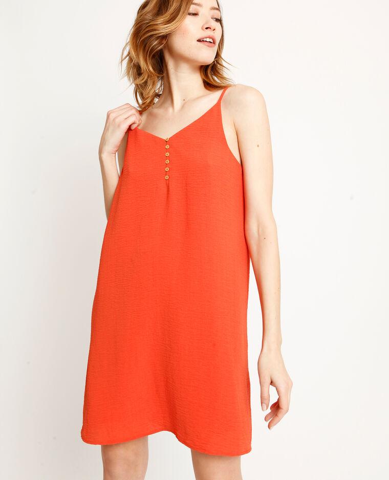 Robe à fines bretelles orange